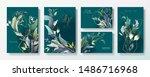 wedding invitation frame set ... | Shutterstock .eps vector #1486716968