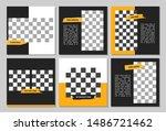 set of editable square banner...   Shutterstock .eps vector #1486721462
