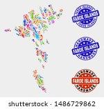 vector handmade composition of... | Shutterstock .eps vector #1486729862