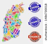 vector handmade combination of... | Shutterstock .eps vector #1486730018