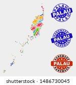 vector handmade collage of... | Shutterstock .eps vector #1486730045