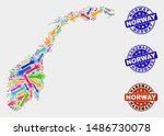 vector handmade combination of... | Shutterstock .eps vector #1486730078
