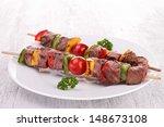 Plate Of Beef Kebab