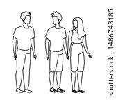 group of people avatars... | Shutterstock .eps vector #1486743185
