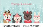 merry christmas and happy new... | Shutterstock .eps vector #1486755905
