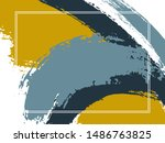 horizontal border with paint... | Shutterstock .eps vector #1486763825