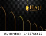 hajj mabrour with traditional... | Shutterstock .eps vector #1486766612