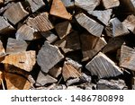 A Close Up Of Sawn Ends Of...