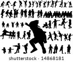 fifteen silhouette of children... | Shutterstock .eps vector #14868181