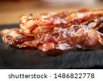 Crispy Hot Fried Bacon Pieces...