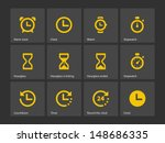 time and clock icons on white... | Shutterstock .eps vector #148686335