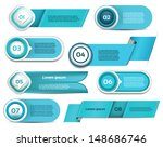 set of  blue vector progress ... | Shutterstock .eps vector #148686746