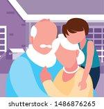 happy grandparents day flat... | Shutterstock .eps vector #1486876265