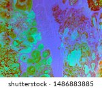 abstract purple green white... | Shutterstock . vector #1486883885