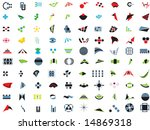 100 vector logos and elements | Shutterstock .eps vector #14869318