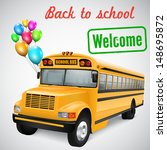 realistic school bus with... | Shutterstock .eps vector #148695872
