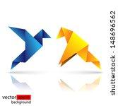origami bird vibrant colors | Shutterstock .eps vector #148696562