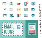 email icons | Shutterstock .eps vector #148697096