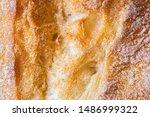 Ciabatta Bread Textured Close...