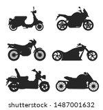 motorcycle icon vector logo... | Shutterstock .eps vector #1487001632