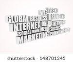 3d text of internet related... | Shutterstock . vector #148701245