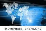abstract world technology...   Shutterstock . vector #148702742