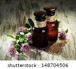 medicine bottles with clover... | Shutterstock . vector #148704506