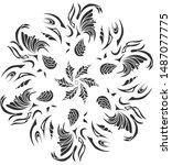 flower mandala. vintage... | Shutterstock .eps vector #1487077775