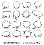 set of blank template in pop... | Shutterstock . vector #1487088752