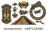ancient maya civilization.... | Shutterstock .eps vector #1487126582