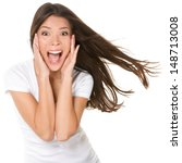 surprised excited happy... | Shutterstock . vector #148713008