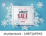 winter sale  banner design with ... | Shutterstock .eps vector #1487169542