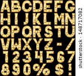Golden Alphabet With Show Lamp...