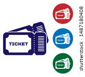 blue ticket icon isolated on... | Shutterstock .eps vector #1487180408