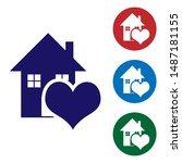 Blue House With Heart Shape...