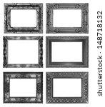 set of black vintage frame...   Shutterstock . vector #148718132