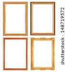 old antique gold picture frame... | Shutterstock . vector #148719572