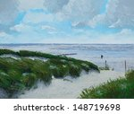 Painting Of A Calm Sea  Scener...