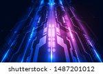 abstract futuristic digital... | Shutterstock .eps vector #1487201012