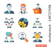 business people flat icons for...