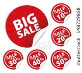 big sale stickers and tags with ... | Shutterstock .eps vector #148729838