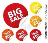 big sale stickers and tags with ... | Shutterstock .eps vector #148729862