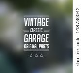 vector vintage garage mark with ... | Shutterstock .eps vector #148730042