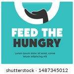 help feed a hungry child....   Shutterstock .eps vector #1487345012