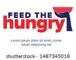 help feed a hungry child....   Shutterstock .eps vector #1487345018