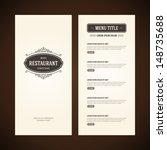 restaurant or cafe menu vector... | Shutterstock .eps vector #148735688