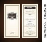 restaurant or cafe menu vector... | Shutterstock .eps vector #148735748