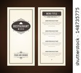 restaurant or cafe menu vector... | Shutterstock .eps vector #148735775