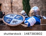 Medieval Fighter Resting Before ...