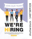 we are hiring concept.... | Shutterstock .eps vector #1487389328